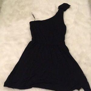 Black one strap express dress